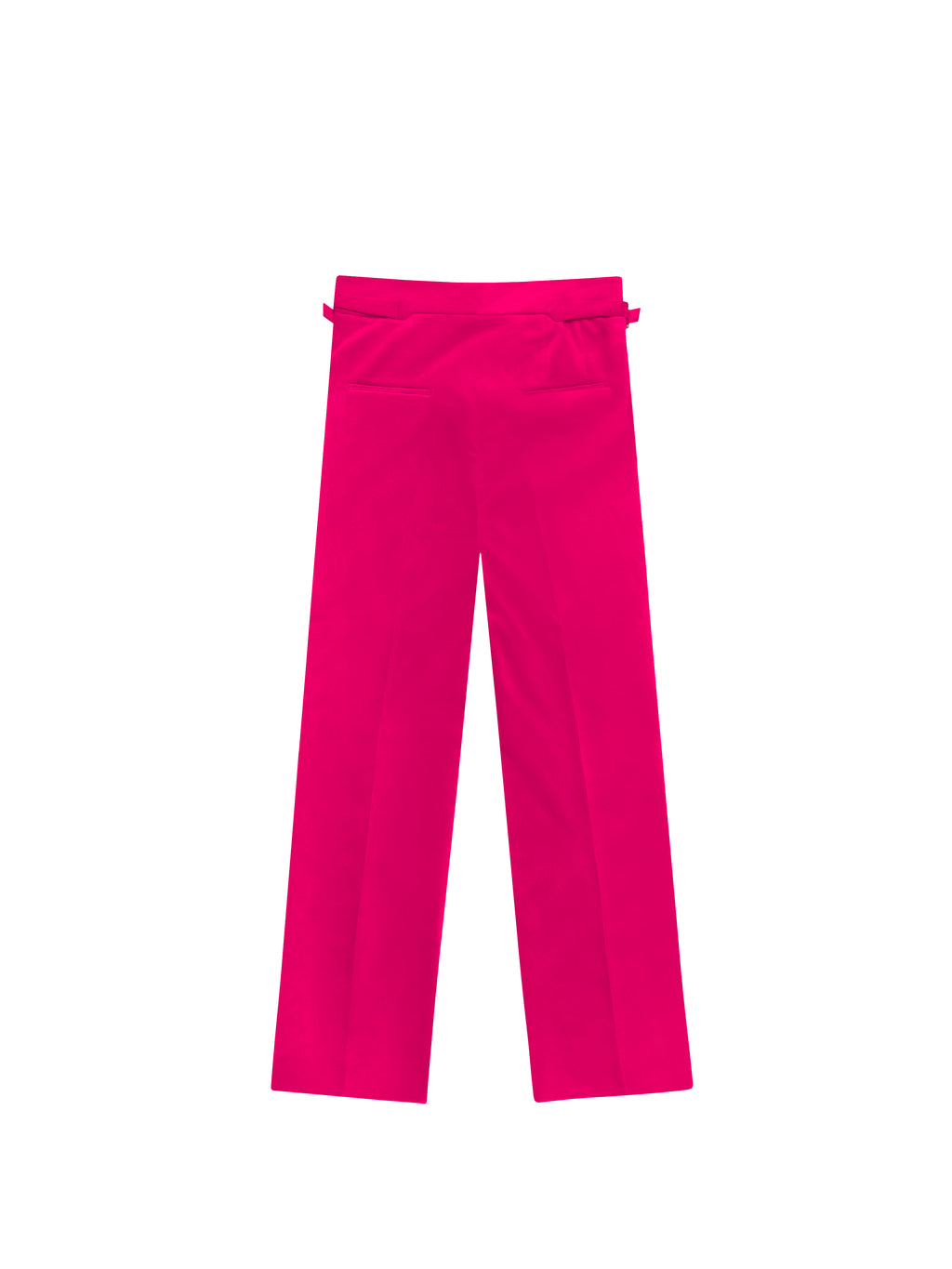 FUCSHIA VELVET PLEATED TROUSERS