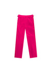 FUSCHIA VELVET PLEATED TROUSERS