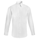 W APPLIQUE POINT COLLAR SHIRT - WHITE