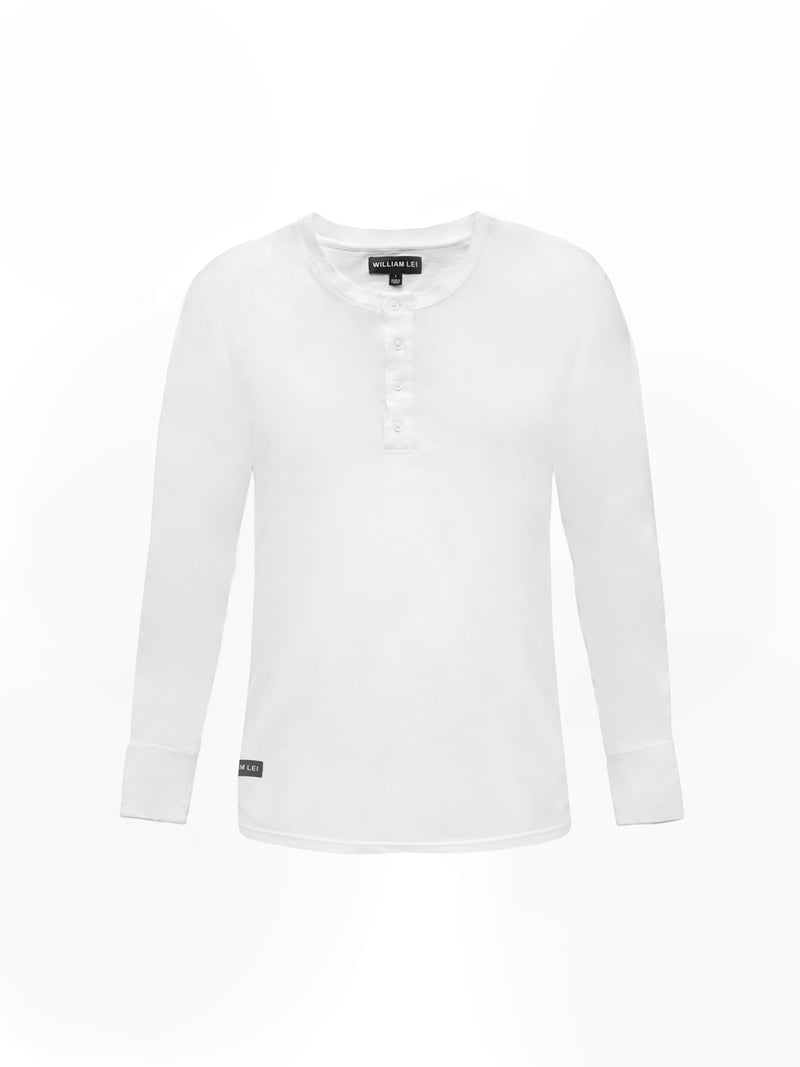 ULTRAFINE COTTON HENLEY T-SHIRT