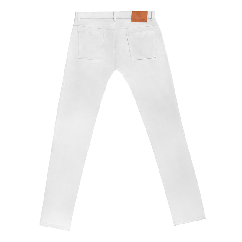 SLIM STRETCH COTTON WHITE JEANS