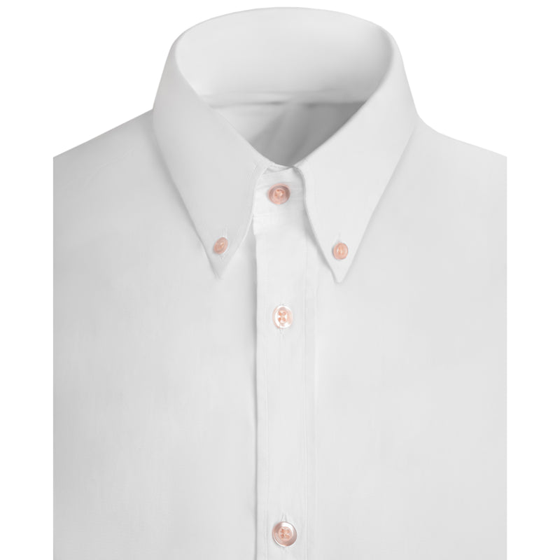 SIGNATURE BUTTON DOWN POPLIN SHIRT - WHITE
