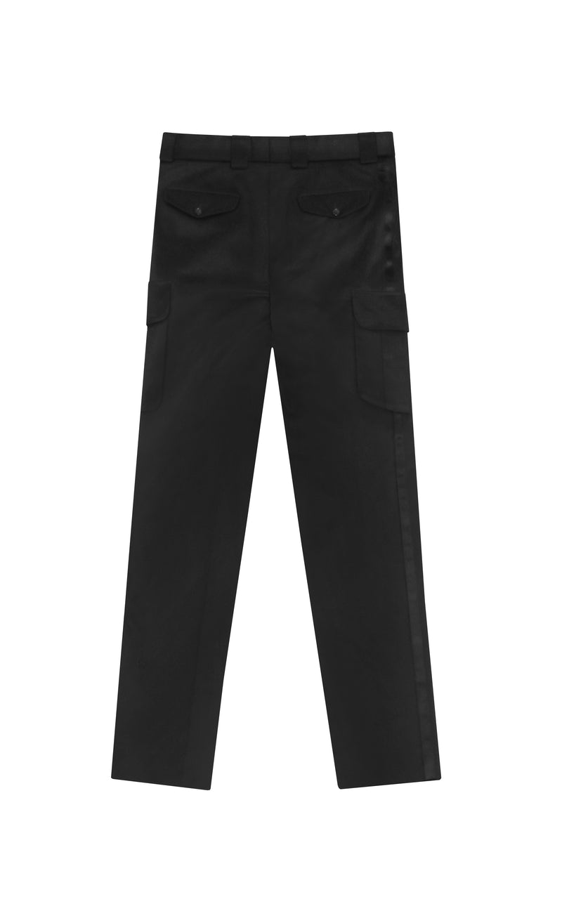 SATIN BAND TWILL CARGO PANTS