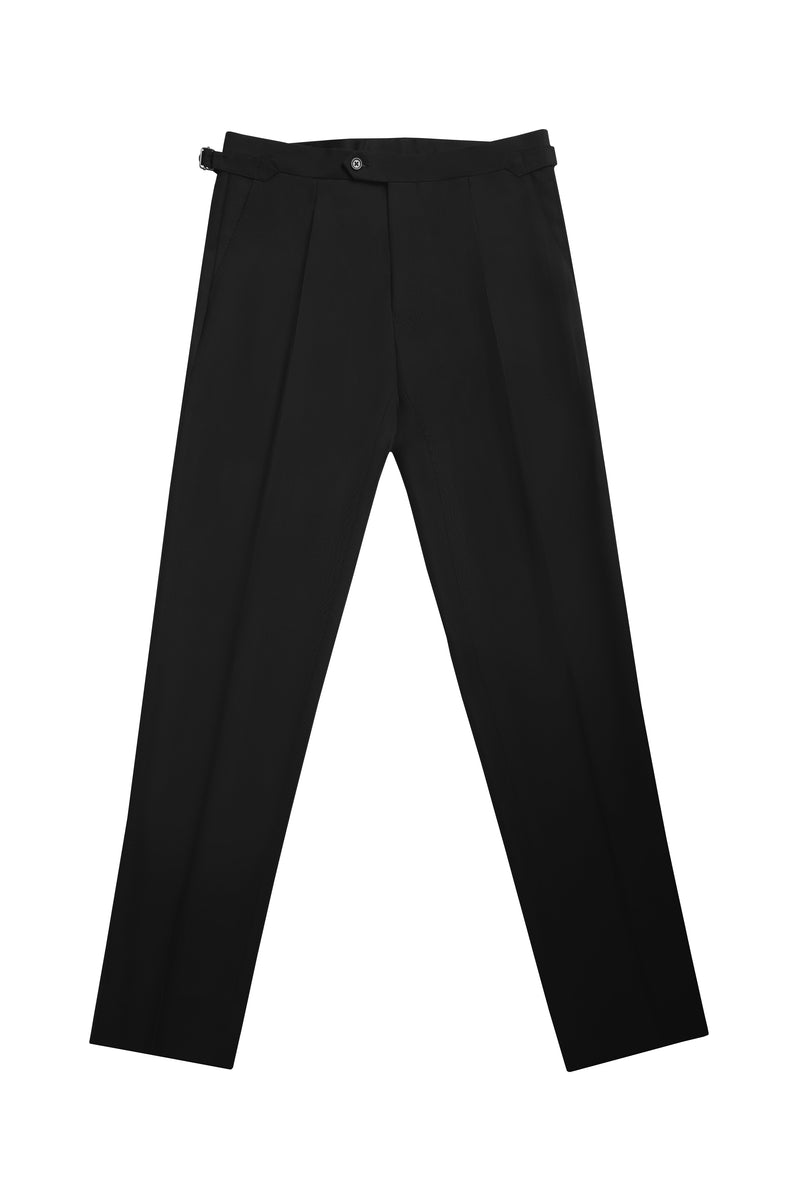 BLACK MOHAIR BLEND THE ERA TROUSERS