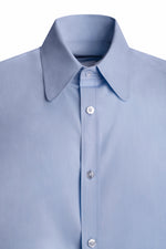 BLUE CLUB COLLAR POPLIN SHIRT