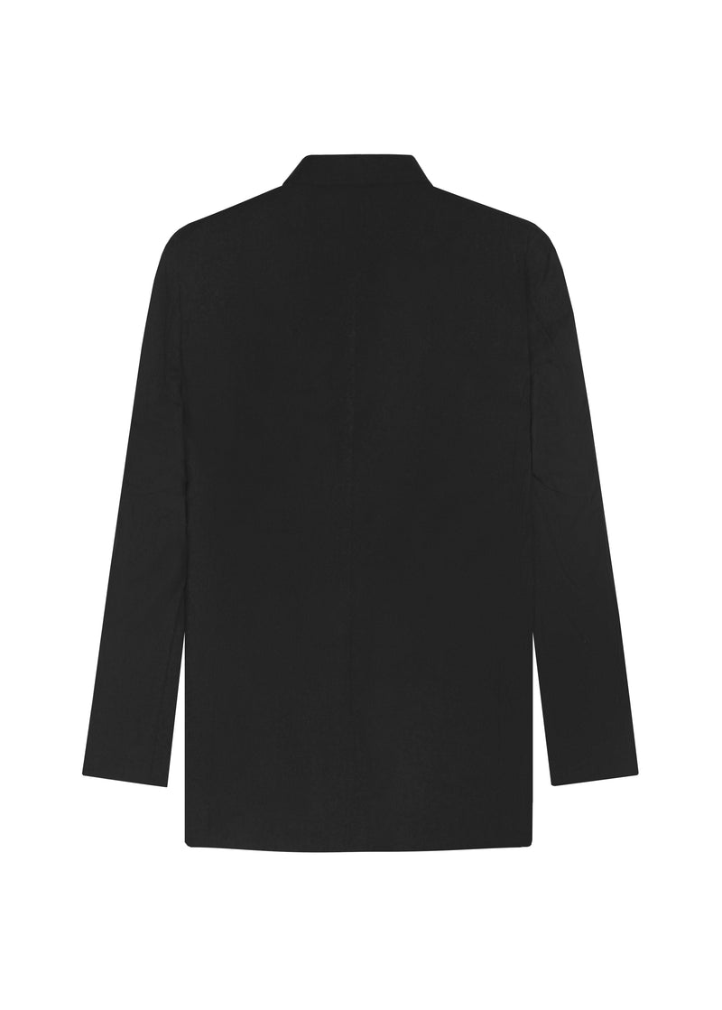 BLACK DOUBLE BREASTED MOHAIR JACKET