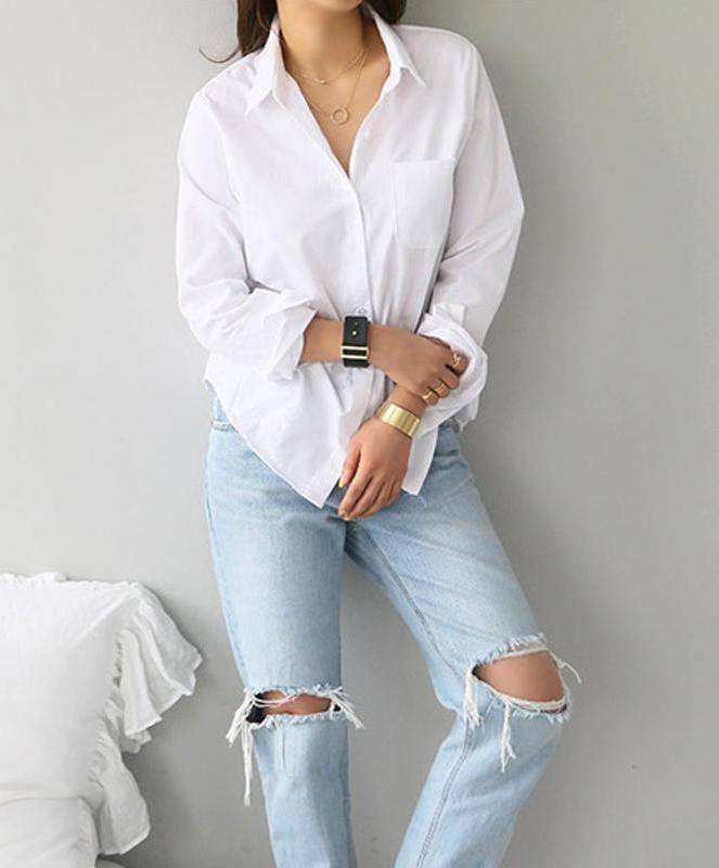 Minimal White Blouse