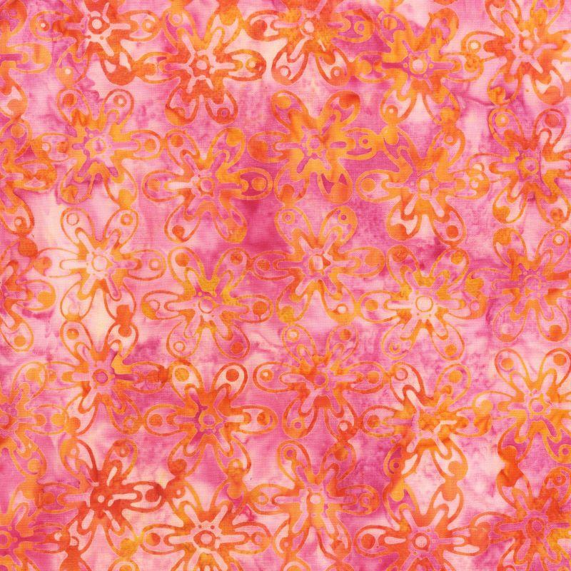 Batik Melody Daisy Hot Pink and Orange