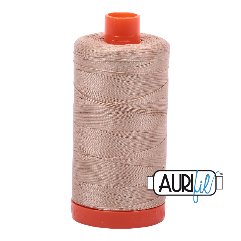 Aurifil Beige 50 wt Cotton Thread 1422 yd Spool