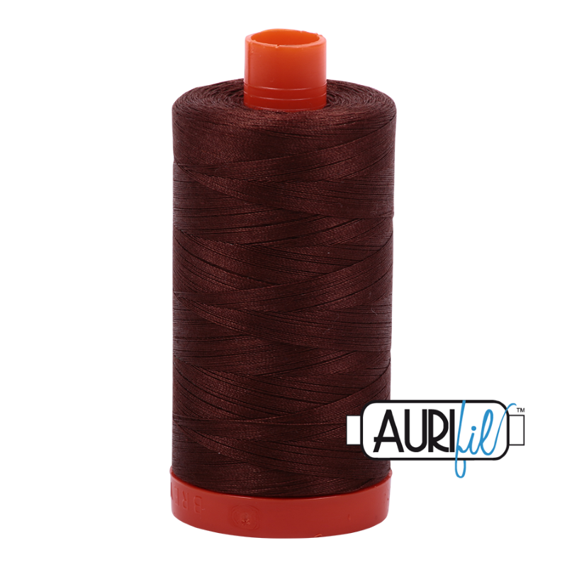 Aurifil Chocolate 50 wt Cotton Thread 1422 yd Spool