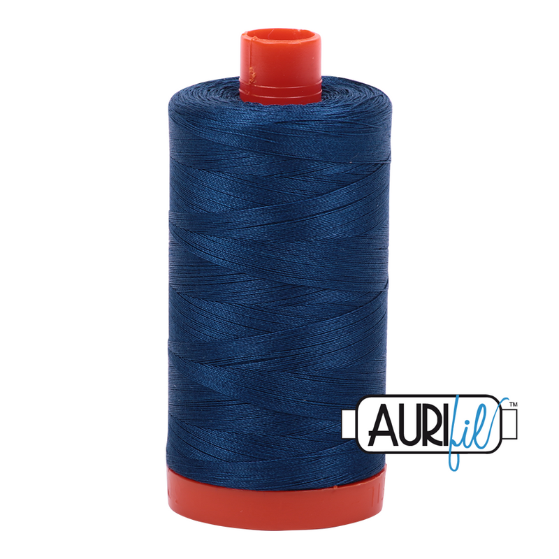 Aurifil Medium Delt Blue 50 wt Cotton Thread 1422 yd Spool