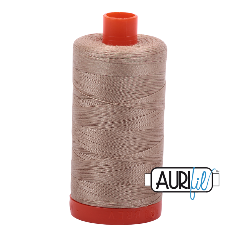 Aurifil Sand 50 wt Cotton Thread 1422 yd Spool