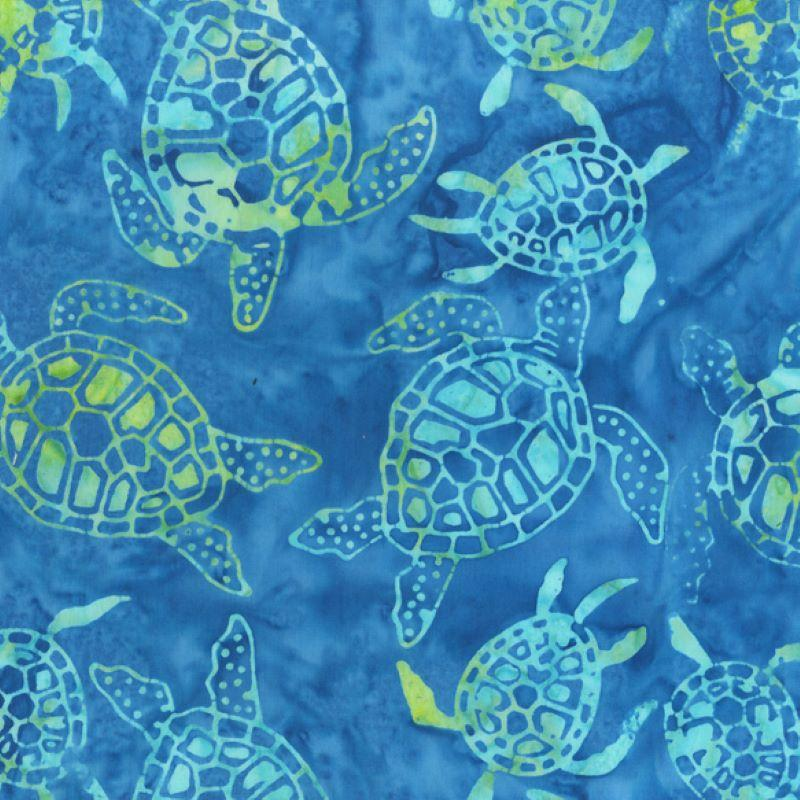 Batik Land and Sea Turtle Blue