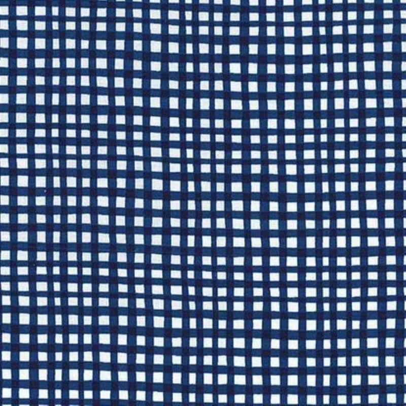Gingham Play Blue & White