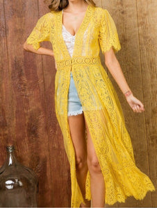 Hello Sunshine: Ruffle Closure Cardigan