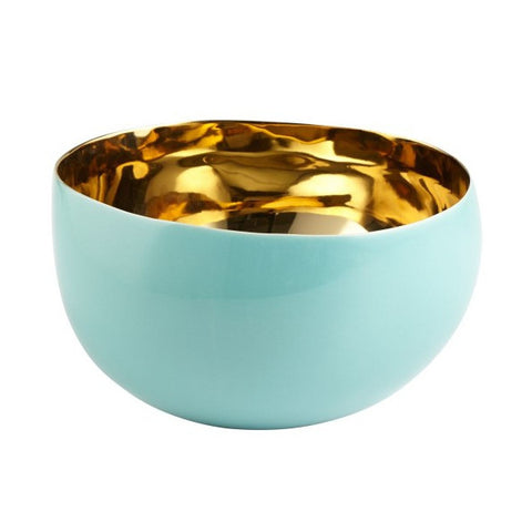 Aqua Gold Bowl Blue and Gold Interior Decor