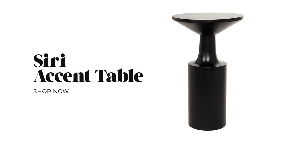 Siri Table - Get The Look Modern Mystic Bedroom - Black Rooster Decor