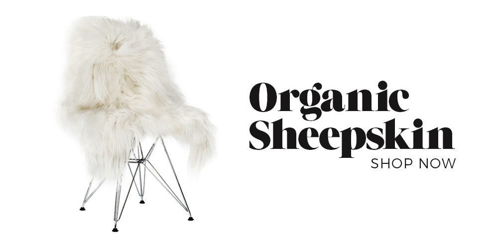 Black Rooster Decor - Sheepskin - Boho Glam