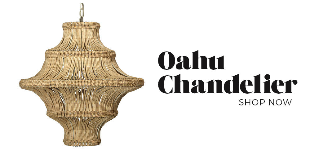Black Rooster Decor - Oahu Chandelier - Boho Glam