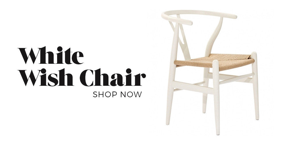 Black Rooster Decor - White Wish Chair - Boho Glam