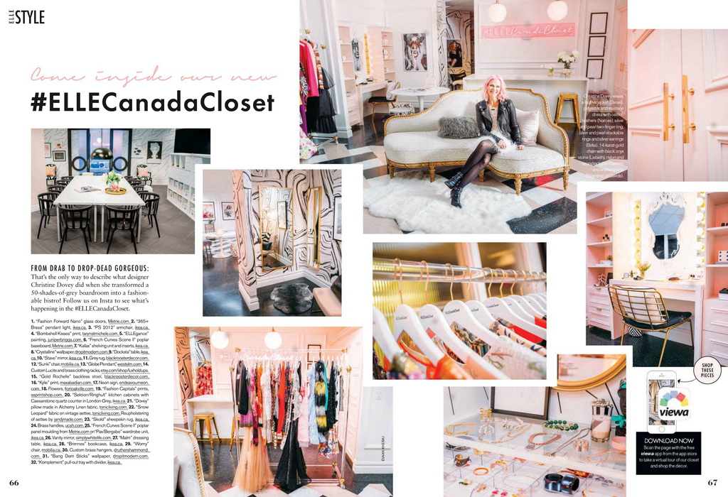 ELLE Canada Closet feat Black Rooster Decor