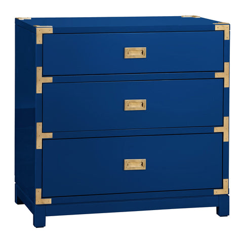 Blue and Gold Interior Decor Dresser