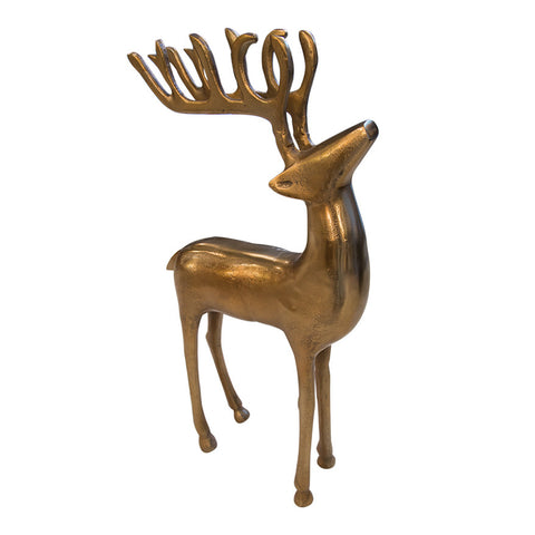 Holiday Decor Must-Haves: 2015 Standing Brass Reindeer