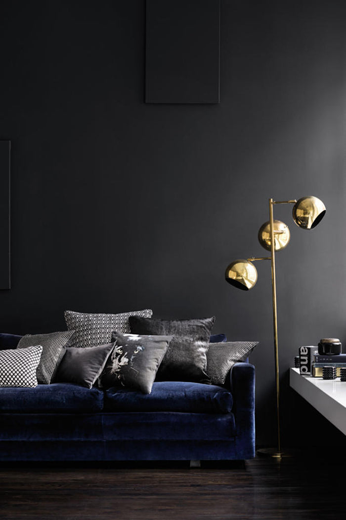 H&M Home Blue and Gold Interior Decor