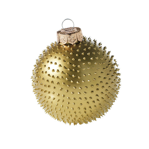 Holiday Decor Must-Haves: 2015 Gold Spiked Holiday Ornament