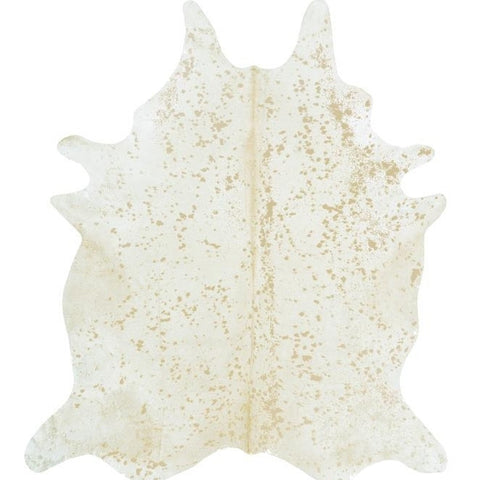 Holiday Decor Must-Haves: 2015 Matte Gold Ivory Cowhide