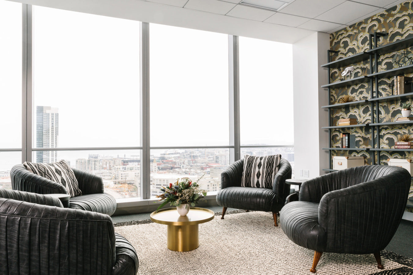 Black Rooster Decor - Homepolish: A High-Rise Office for Trinity Ventures SF - Black Glove Chair