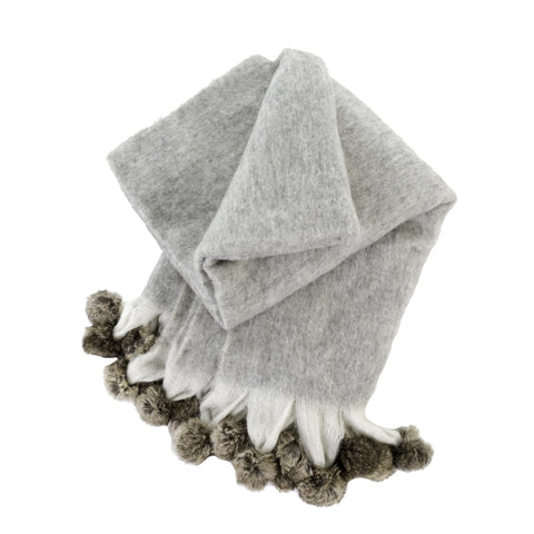 Holiday Decor Must-Haves: 2015 Pom Pom Grey Throw