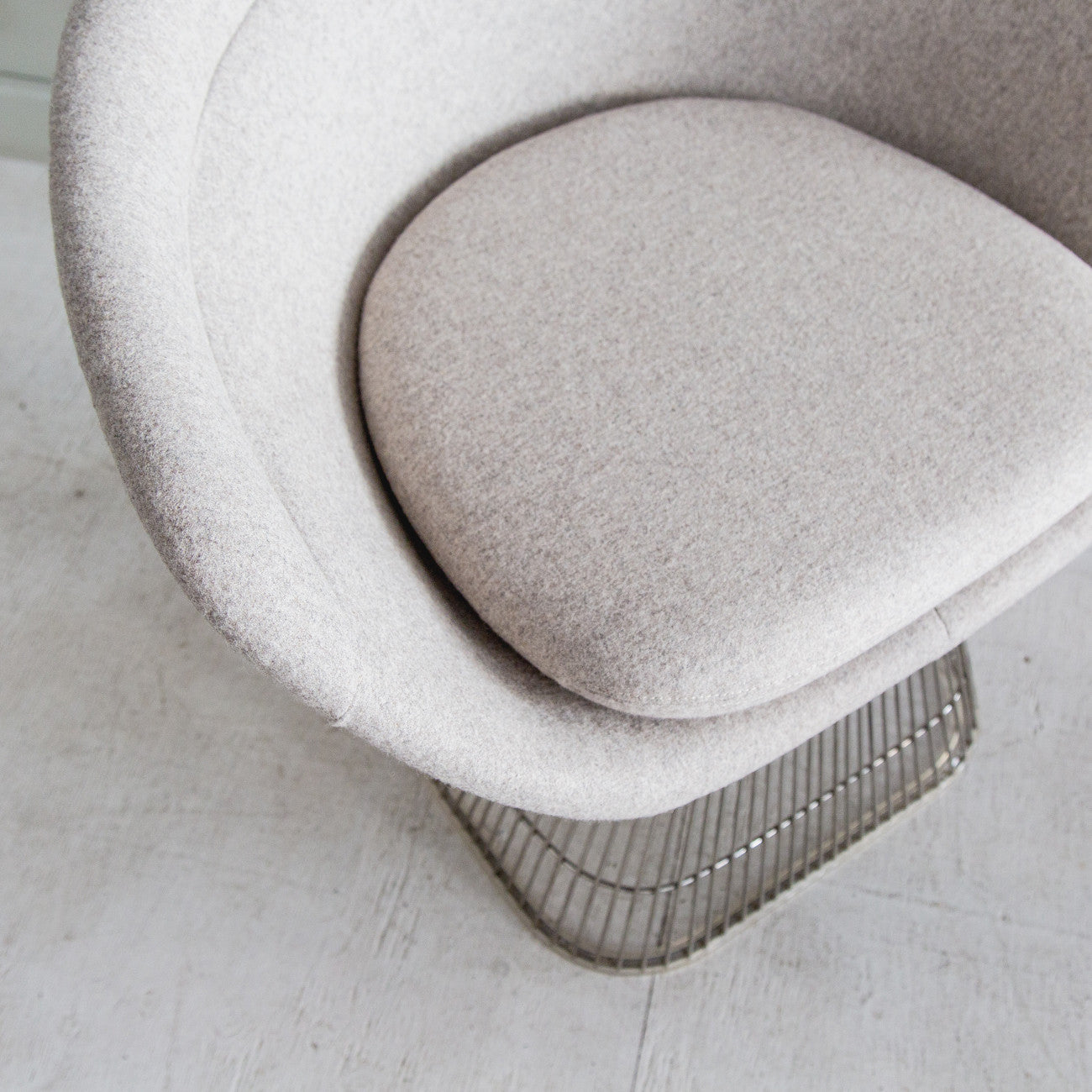 Iconic Wheat Cashmere Chair