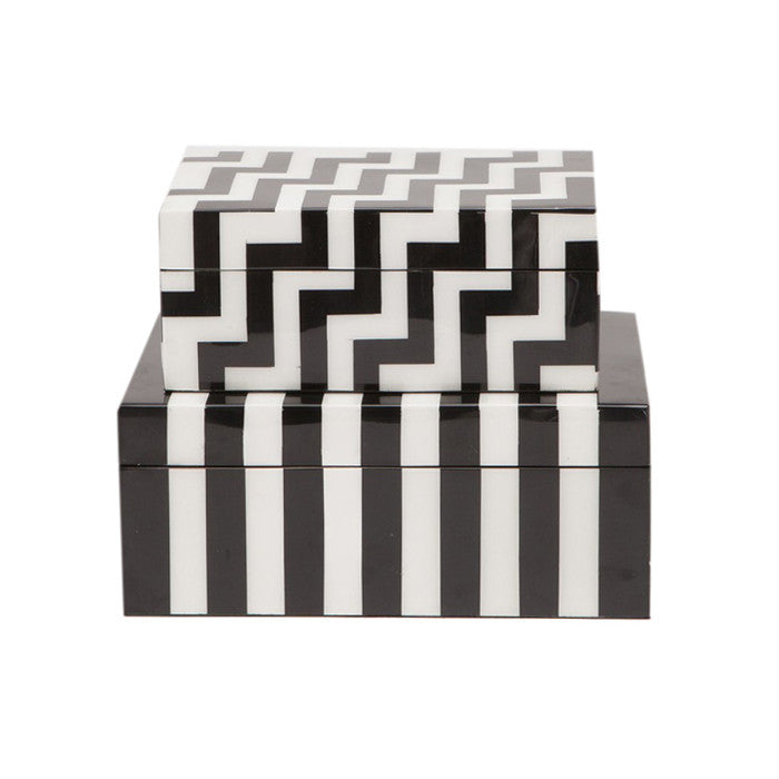 Athena Black and White Box Set - Black Rooster Decor
