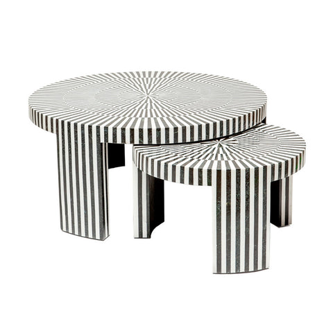 B&W Marble Nesting Tables