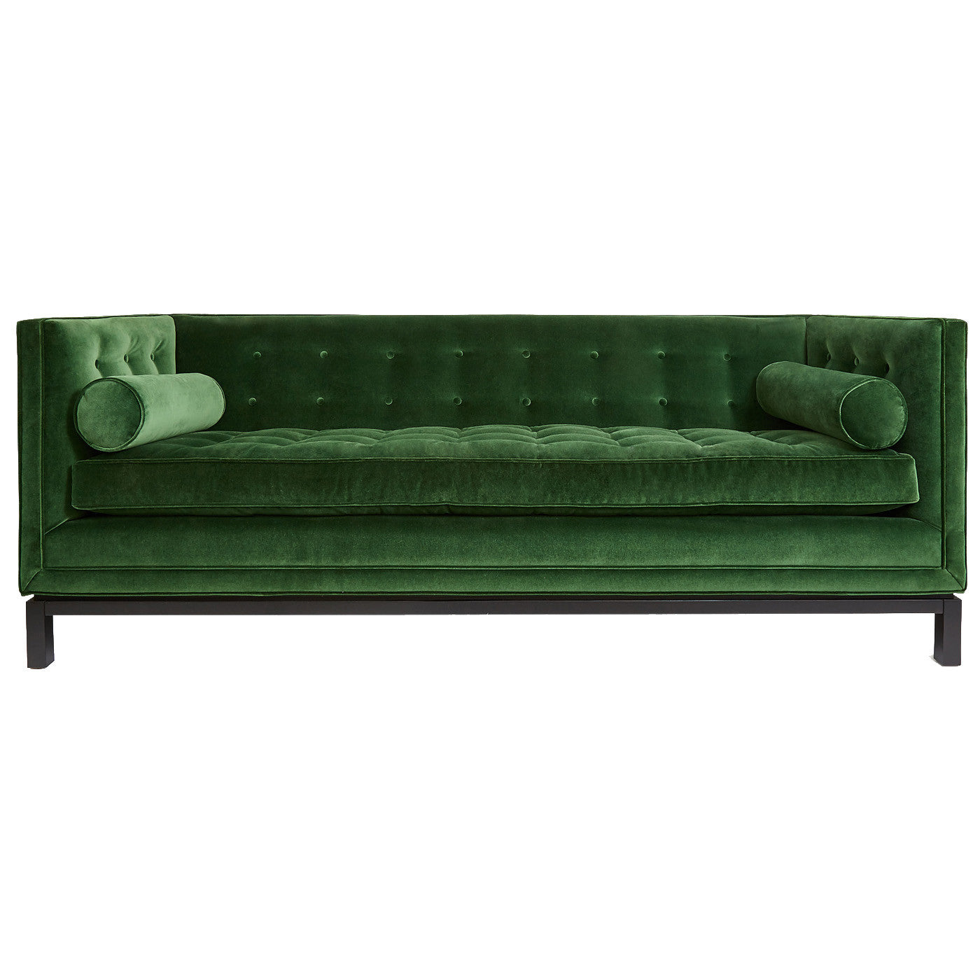 Emerald Velvet Sofa Black Rooster Decor