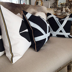 Black Bold Pillow - Black Rooster Decor