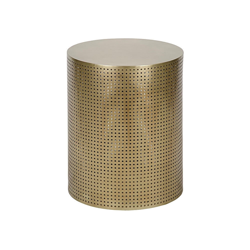 Punched Brass Side Table