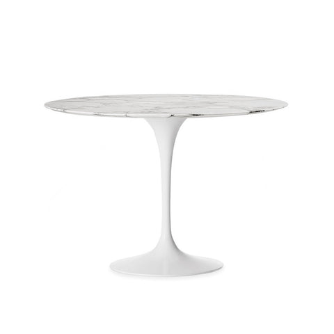 Round Marble Top Tulip Dining Table