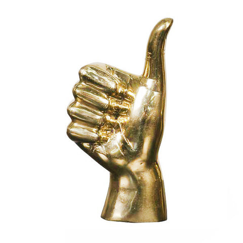 Thumbs Up Brass Sculpture