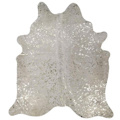 Metallic on White Cowhide