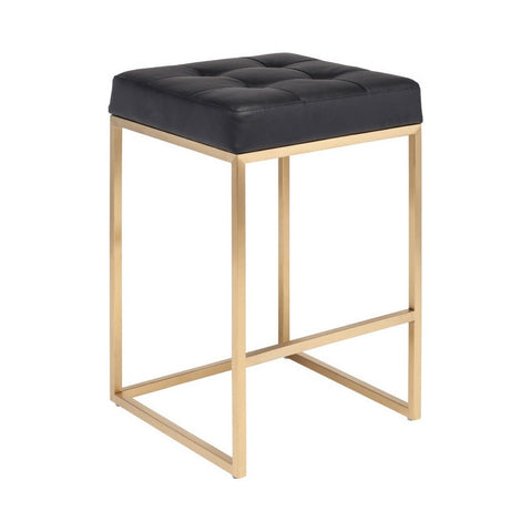Black & Brushed Gold Stool