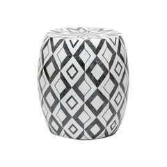 Diamond Marble Stool