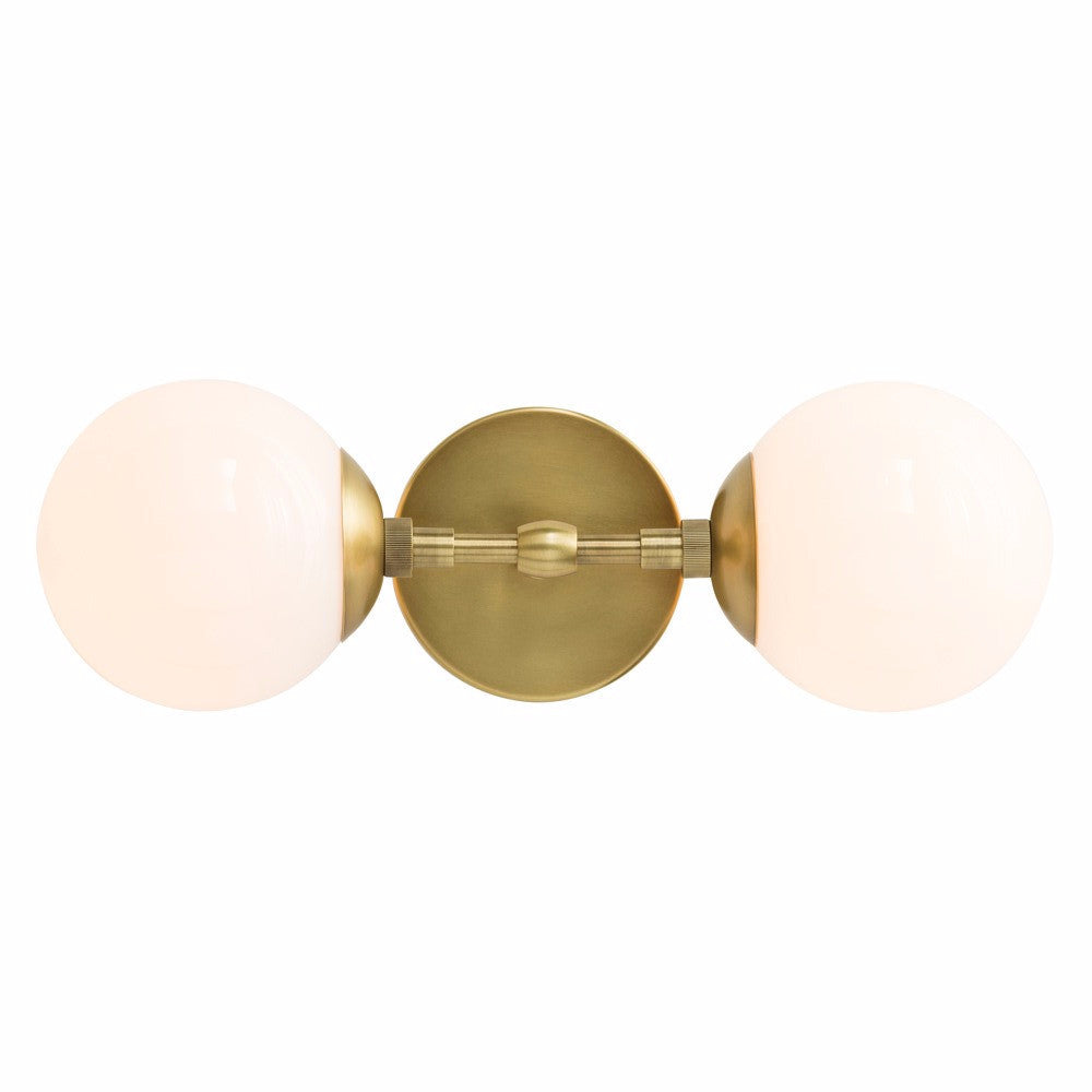 Double Brass Sconce
