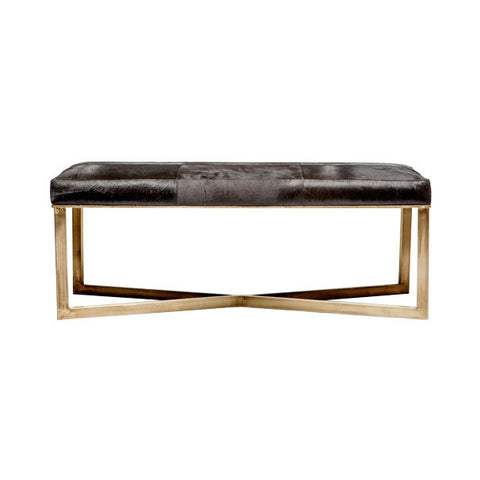 Glam Cowhide Bench - Large