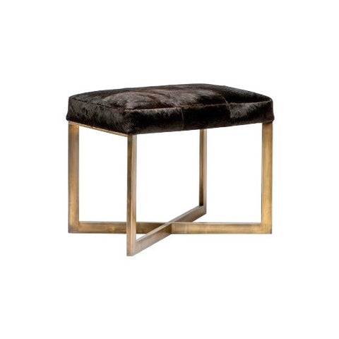 Glam Cowhide Bench - Small