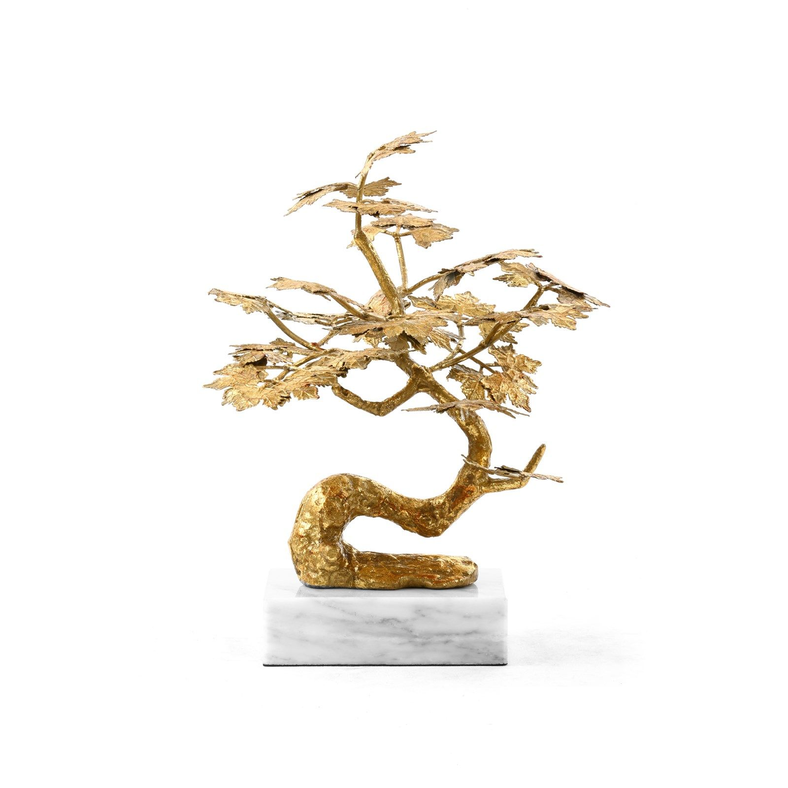 Gold Bonzai Sculpture