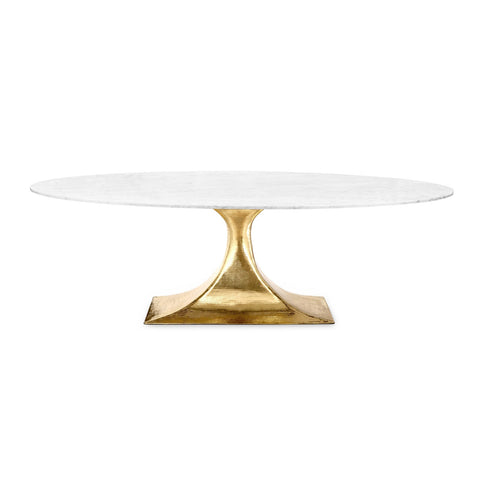 Brass Repoussé Oval Table