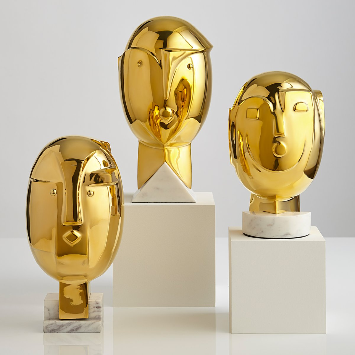 Metropolis Brass Sculpture Collection