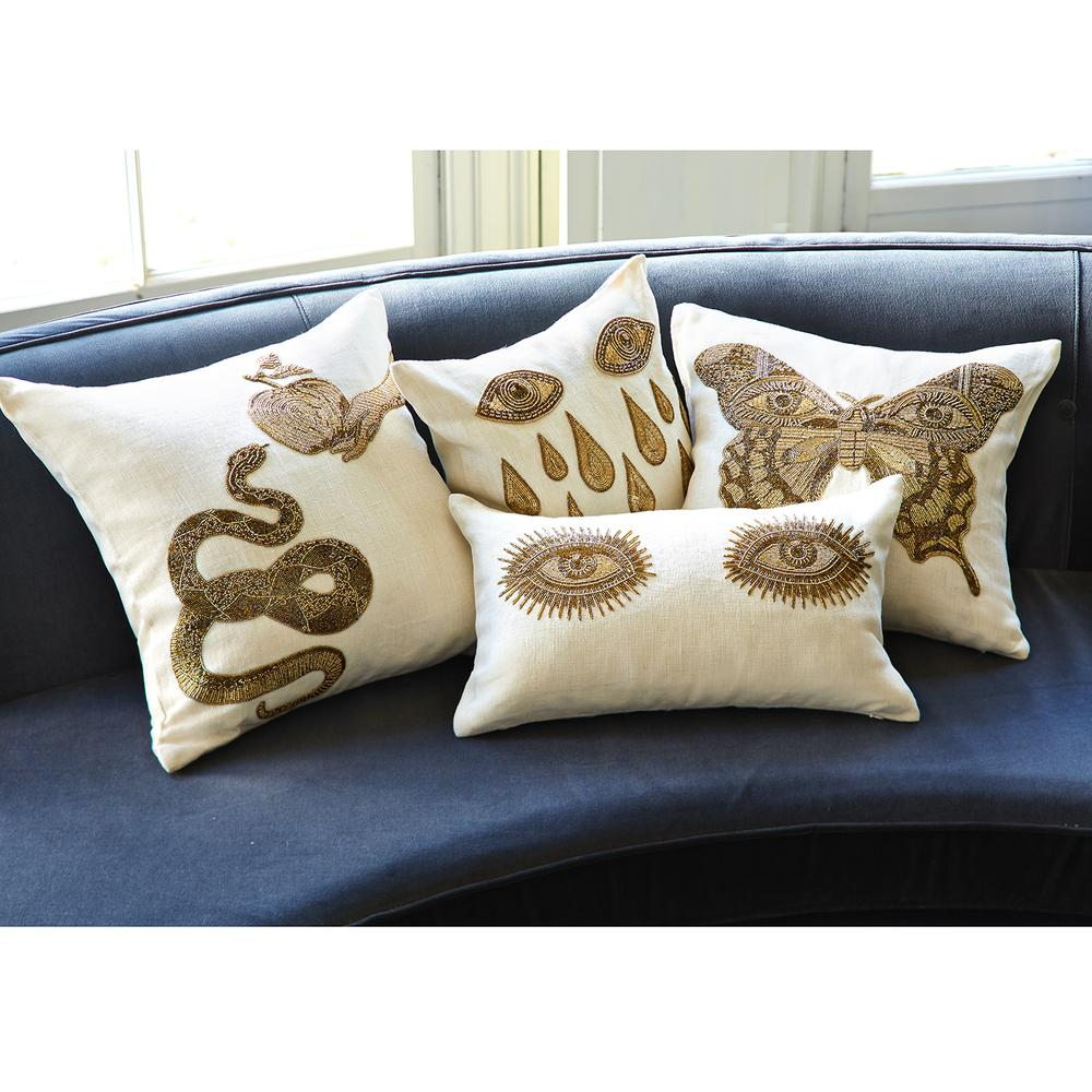 Muse Snake & Apple Throw Pillow